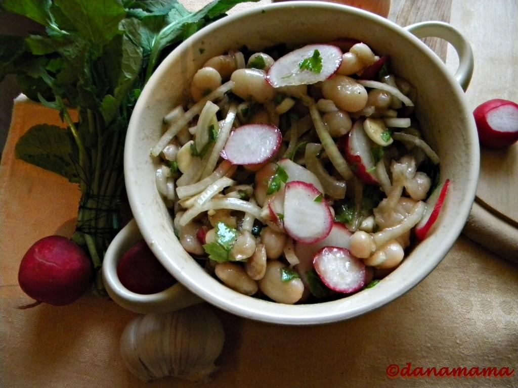salata de fasole si ridichi