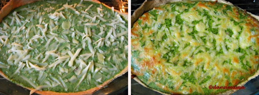 tarta cu broccoli si spanac