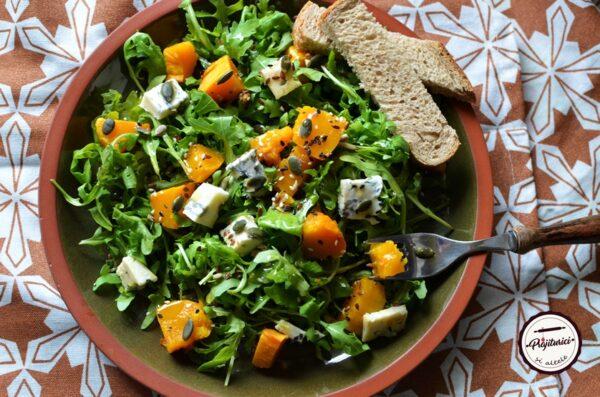 salata cu dovleac copt si branza
