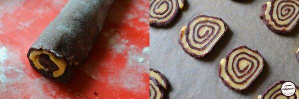 biscuiti spiralati cu vanilie si cacao