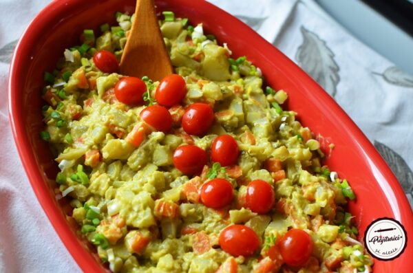 Salata de post cu maioneza de avocado